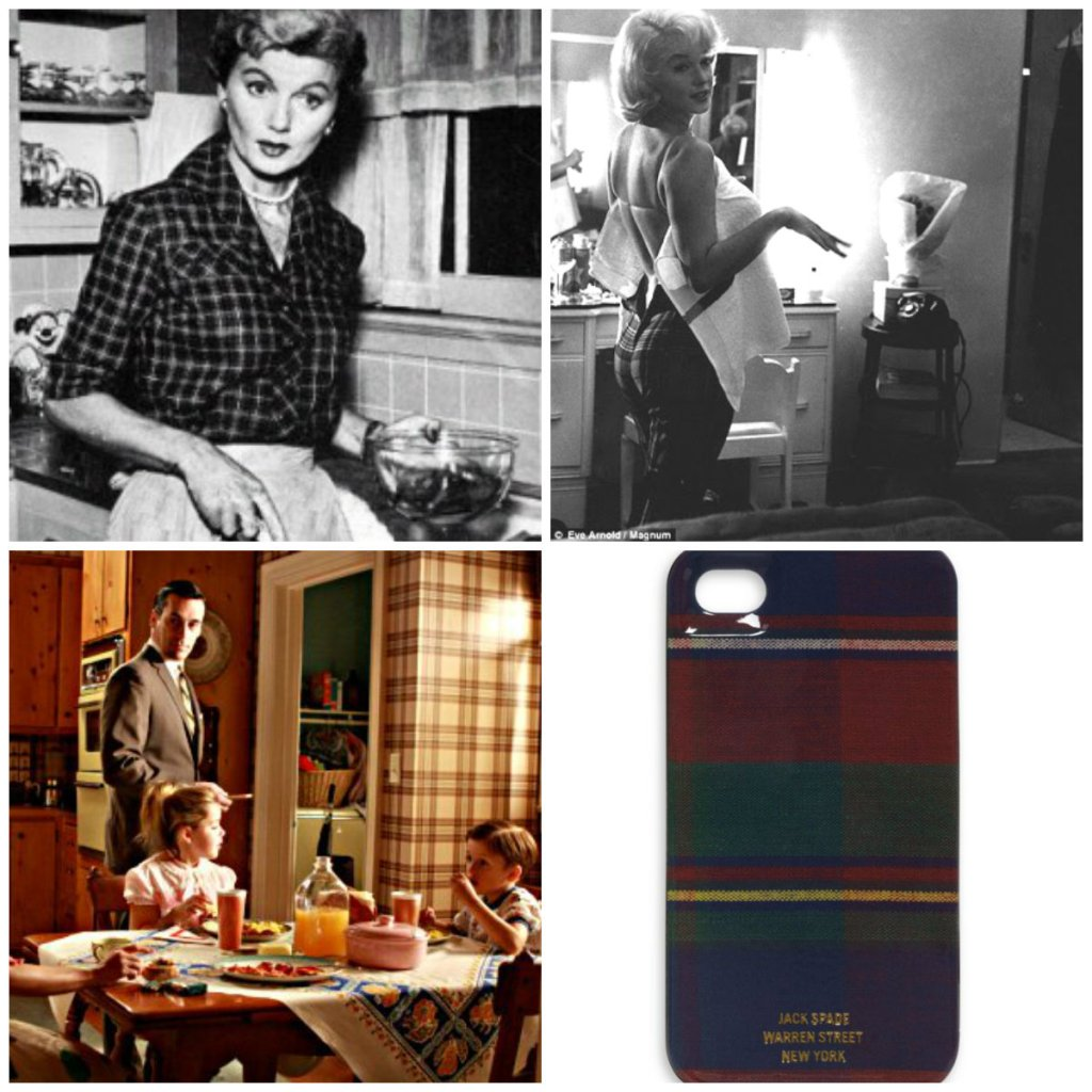 plaid tartan collage