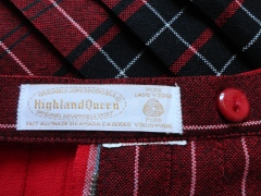 Highland Queen wool tartan plaid skirt