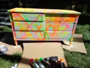 graffiti dresser DIY